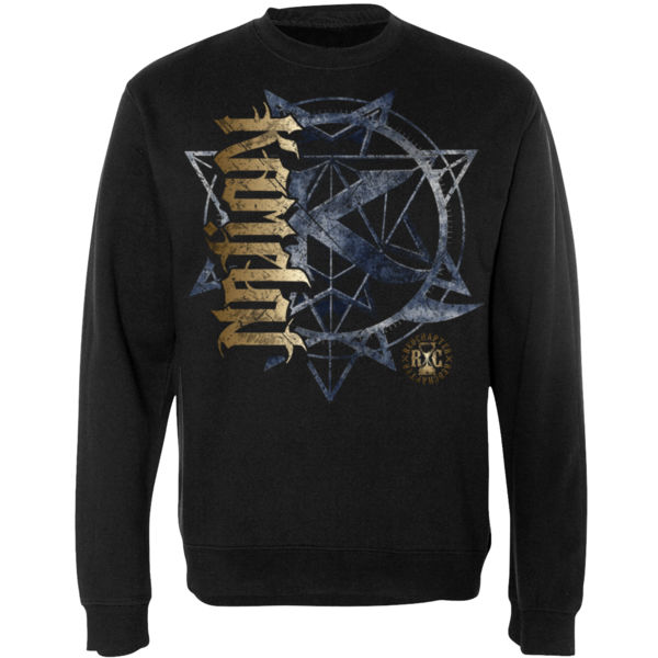 KAMELOT NATION AMBIGRAM - ULTRA PREMIUM MEN'S CREW NECK SWEATSHIRT - SOLID GRAPHITE BLACK Thumbnail