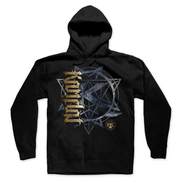 KAMELOT NATION AMBIGRAM - ULTRA PREMIUM MEN'S PULLOVER HOODIE - SOLID GRAPHITE BLACK Thumbnail