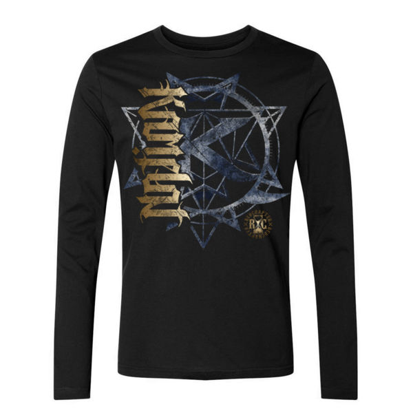 KAMELOT NATION AMBIGRAM - ULTRA PREMIUM MEN'S L/S T-SHIRT - SOLID GRAPHITE BLACK Thumbnail